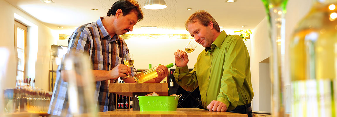 Weinproben im Weingut sind wieder möglich.